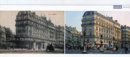 ....75  Paris 5eme  Angle  Bd St Michel Et Rue Gay Lussac    Autrefois  Et Aujourdhui  Carte  23 Cm X  10 Cm - Distretto: 05
