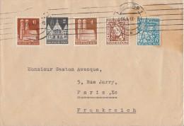 Bizone Brief Mif Minr.73wg,74wg,76wg,69,70 Hamburg 4.4.49 Gel. Nach Frankreich - Bizone