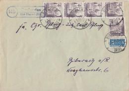 Württemberg Brief Mef Minr.5x 29 Biberach 9.3.49 Lpst. Baulanden - Französische Zone