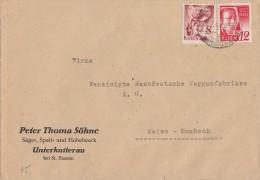 Baden Brief Mif Minr.18,32  26.2.49 - Französische Zone