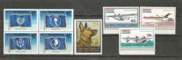 Année 1997. 8 T-p Neufs ** (avions:Boeing 727-100,hydravions Catalina & Grumman SA-16B Albatross, Drapeaux,Chien Berger) - Micronésie