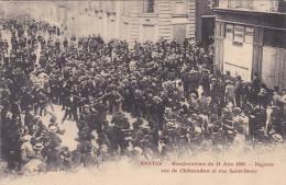 NANTES MANIFESTATIONS DU 14 JUIN 1903 BAGARRE RUE DE CHATEAUDUN RUE SAINT DENIS - Nantes