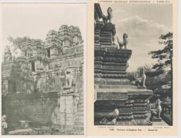 INDOCHINE  CAMBODGE  2   CPA  RUINES D´ANGKOR  Réf  2368 - Cambodia