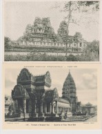INDOCHINE  CAMBODGE  2   CPA  RUINES D´ANGKOR  Réf  2369 - Cambodia