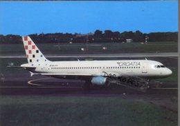 Airbus A320-211 Aircraft Croatia Airlines  A 320 Avion Air Aviation A320 Airplane A-320 Luft - 1946-....: Moderne