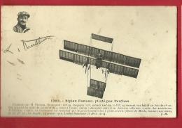 XBP-05 Biplan FArman, Piloté Par Paulhan, Photo En Médaillon. Circulé En 1910 - Aviateurs