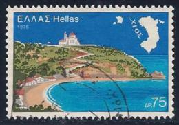Greece, Scott # 1189 Used Chios, Map, 1976 - Greece
