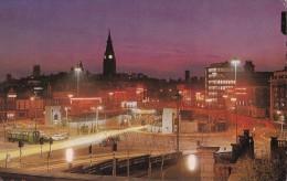 POSTCARD KINGSWAY LIVERPOOL AT NIGHT COLOUR RPPC POSTCARD - Liverpool