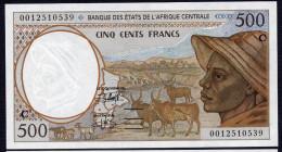 CONGO (Central African States) : 500 Francs  - 1993-2000 - P101C -  UNC - Congo