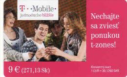 Slowakei-Slovaquie, Prepaid T-mobile 9€ - Slowakei