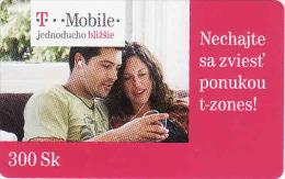 Slowakei-Slovaquie, Prepaid T-mobile 300 Sk - Slowakei