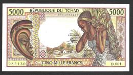 CHAD  : 5000 Francs  - 1984-1991- P11 -  AUNC - Tchad