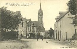 AUGAN Arrivée De La Gare, La Poste, La Mairie Et L'Eglise              -- Lamiré 6379 - France