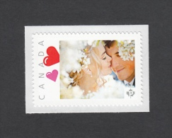 LOVE,  KISS, VALENTINE DAY, Picture Postage MNH Stamp,Canada 2014 [p5sn5/1] - Celebrations