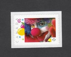 Promo  CLOWN, PAYASO,  Picture Postage MNH Stamp, Canada 2014 [p5sn5/3] - Celebrations