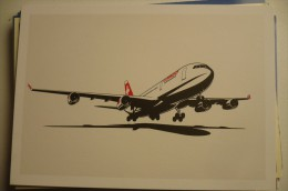 AIRLINES ISSUE / CARTE COMPAGNIE      SWISS  AIRBUS A 340 - 1946-....: Moderne