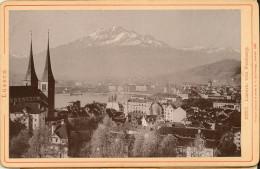 Suisse-Photo Ancienne Vers 1891-Vierwaldstätter See Um Umgebung-luzern Von Felsberg--Suisse - Places