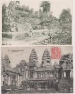 INDOCHINE  CAMBODGE  2   CPA  RUINES D´ANGKOR  Réf  2380 - Cambodge