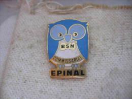 Pin´s Brigade De Surveillance Nocturne (B.S.N) Commissariat EPINAL. Theme Hibou - Chouette - Police