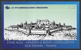 Bosnia & Herzeg. - Sjv. (1998) Yv. C257 - Booklet   /  Castles - Chateaux - Heritage - Kastelen