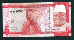 GAMBIA : 5 Delasis  - 2015 - REPLACEMENT - UNC - Gambie