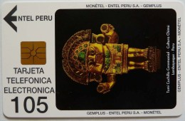 PERU - EC-2 - Entel - Gemplus - Tumi Ceremonial - 105 Units - Mint - RRR - Peru