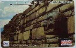 PERU - Tamura - Entel - Sample - Cabeza Claya Chavin De Huantar - Tarjeta Telefonica - Mint - Peru