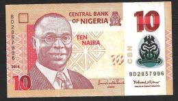 NIGERIA  : Banconota 10 Naira 2014 - UNC - Nigeria