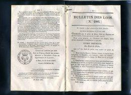 1929-bulletin Des Lois-ref-27457    N° 286 Peche Fluviale   Etc.. 16  Pages  1829-série-8-tome-10 - Décrets & Lois