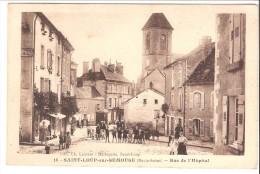 Saint-Loup-sur-Semouse(Lure-Haute Saône)-Rue De L'Hôpital-rue Du Puits à Gauche-Oblit. De Conflans-sur-Lanterne En 1930 - Lure