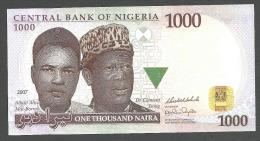 NIGERIA  : 1000 Naira - 2007 - UNC - Nigeria