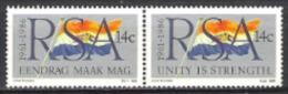Südafrika South Africa RSA 1986 Geschichte Unabhängigkeit Republik Fahnen Flaggen Flags, Mi. 687-8 ** - Südafrika (1961-...)