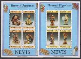 Nevis (1994) Yv. Bf. 77 + Bf. 79  /  Hummel Figurines - Porselein