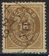 ISLAND - Islande Yvert  N° 9A - Oblitérés