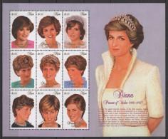 Nevis (1997)  Yv. 1072/80  /  Princess Of Wales - Diana - Lady Di - Königshäuser, Adel