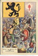 OEuvre Nationale Contra La Tuberculose Postcard,  Guldensporenslag. Bataille Des éperons D'Or. (1302) Illus Valentine - History
