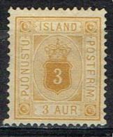 Islande Timbre De Service Yvert  N° 3A - Oblitérés