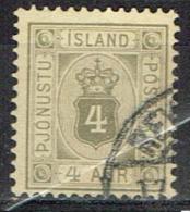 Islande Timbre De Service Yvert  N° 4 - Oblitérés