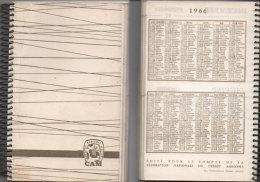Agenda Avec Calendrier 1966 - Caisse De Crédit Agricole Des Bouches Du Rhone (Liste Des   Succursales)  (78474) - Calendriers