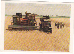 808 Harvesting Wheat Grain Harvester Ukraine 1957 - Landbouw