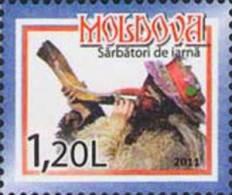 Moldova Moldawien 2011 MNH ** Mi. Nr. 777 Christmas And New Year - Moldavië