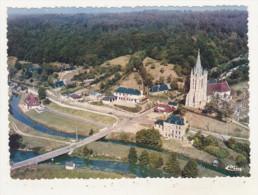 BEAUMONT-LE-ROGER - CPSM - VUE GENERALE AERIENNE DE BEAUMONTEL - L'EGLISE ST-PIERRE - - Beaumont-le-Roger