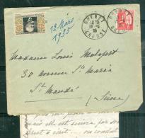 Timbre Antituberculeux De 1934 Sur Lettre  ( Lac )  Oblitéré Gueret En 1935 - Ae11812 - Antituberculeux