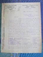 Lettre De 1918, D'un Herboriste De Paris à L'inspecteur Des Domaines De Fontainebleau - France