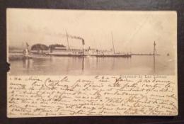 SUISSE -  SOUVENIR DU LAC LEMAN CON PIROSCAFO - PER GENOVA NEL 1896 - Suisse
