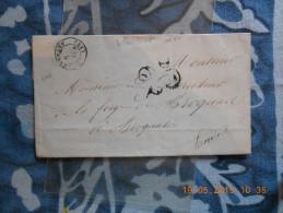 ZZ_30_ Lettre De Villandraut Ind7 A Voir!!verso!! - 1849-1876: Période Classique