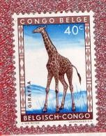 CONGO  BELGE   --  GIRAFE  --   **  40 C. **  --  POSTE 1959  --  NEUF SANS TRACE DE CHARNIERE - Belgian Congo
