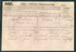 1876 GB Post Office Telegraph Snaith, Yorkshire - Grays Inn - 1840-1901 (Victoria)