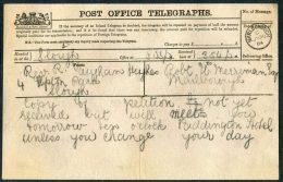 1874 GB Post Office Telegraph Slough - Marlborough - 1840-1901 (Victoria)