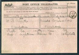 1876 GB Post Office Telegraph Evesham - 1840-1901 (Victoria)
